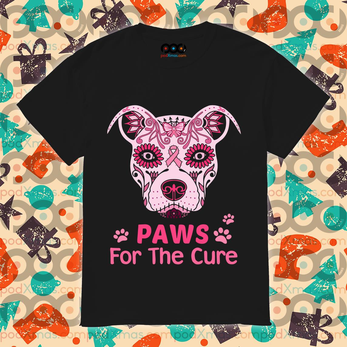 Dog Tattoos Cancer Awareness Paw for the cure shirt