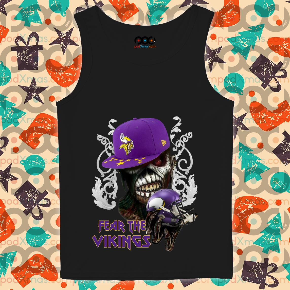 Iron Maiden Eddie Fear the Vikings tank top
