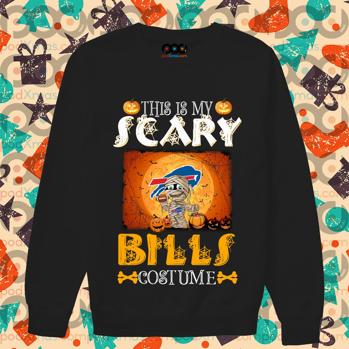 This is my scary Buffalo Bills costume Halloween sweaters