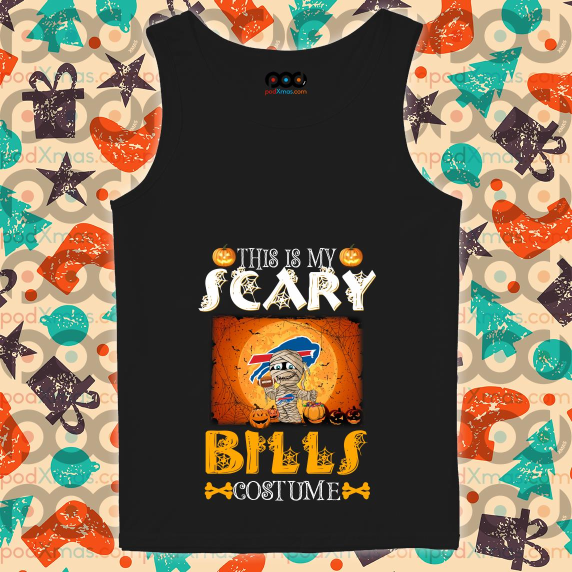 This is my scary Buffalo Bills costume Halloween tank tops