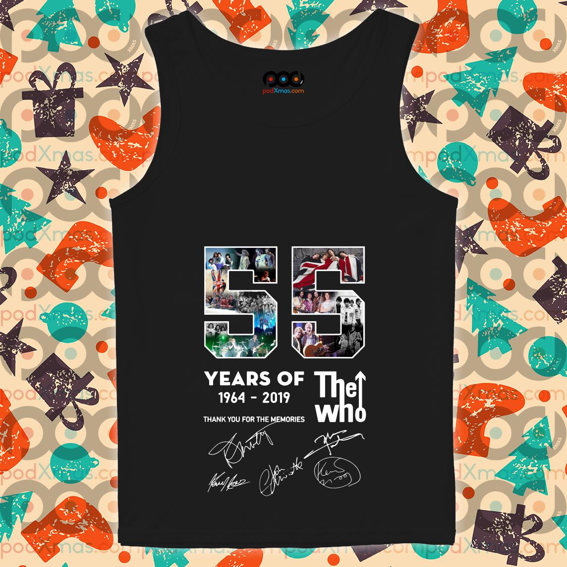 55 years of The Who 1964 2019 thank you for the memories tank top