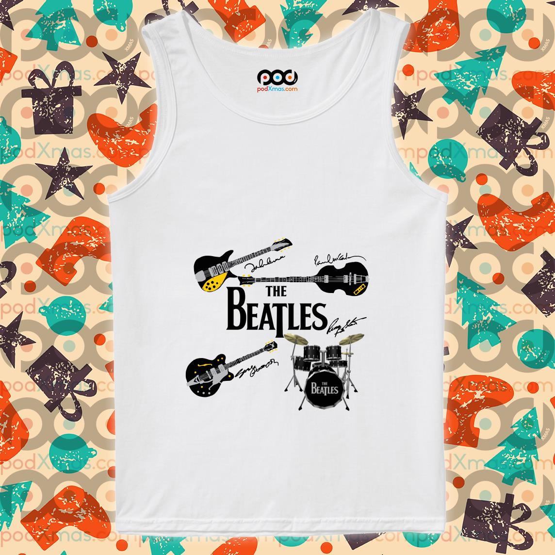 The Beatles' musical instruments tank top