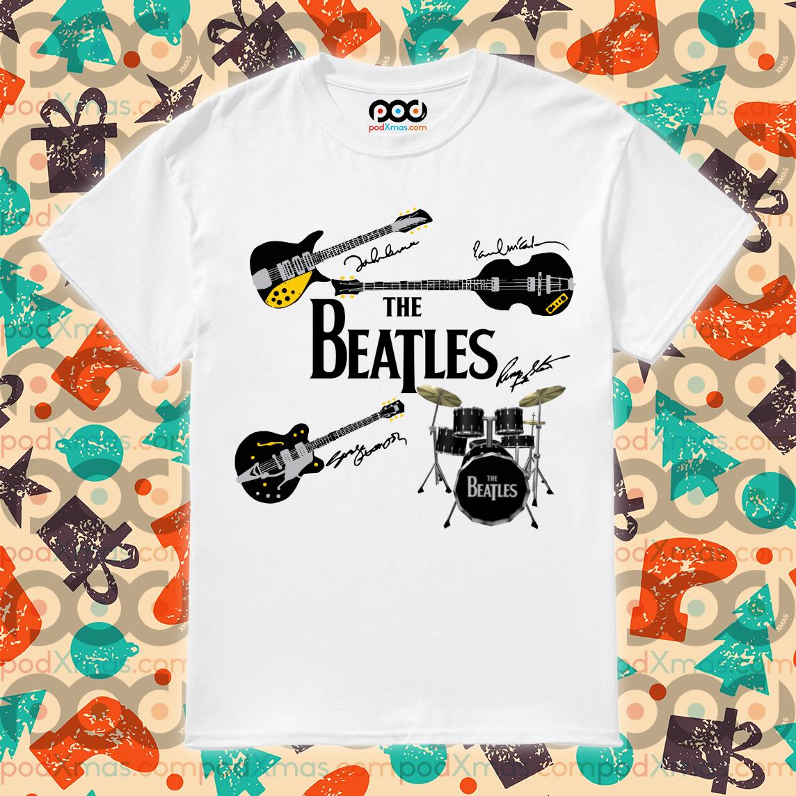The Beatles' musical instruments shirt