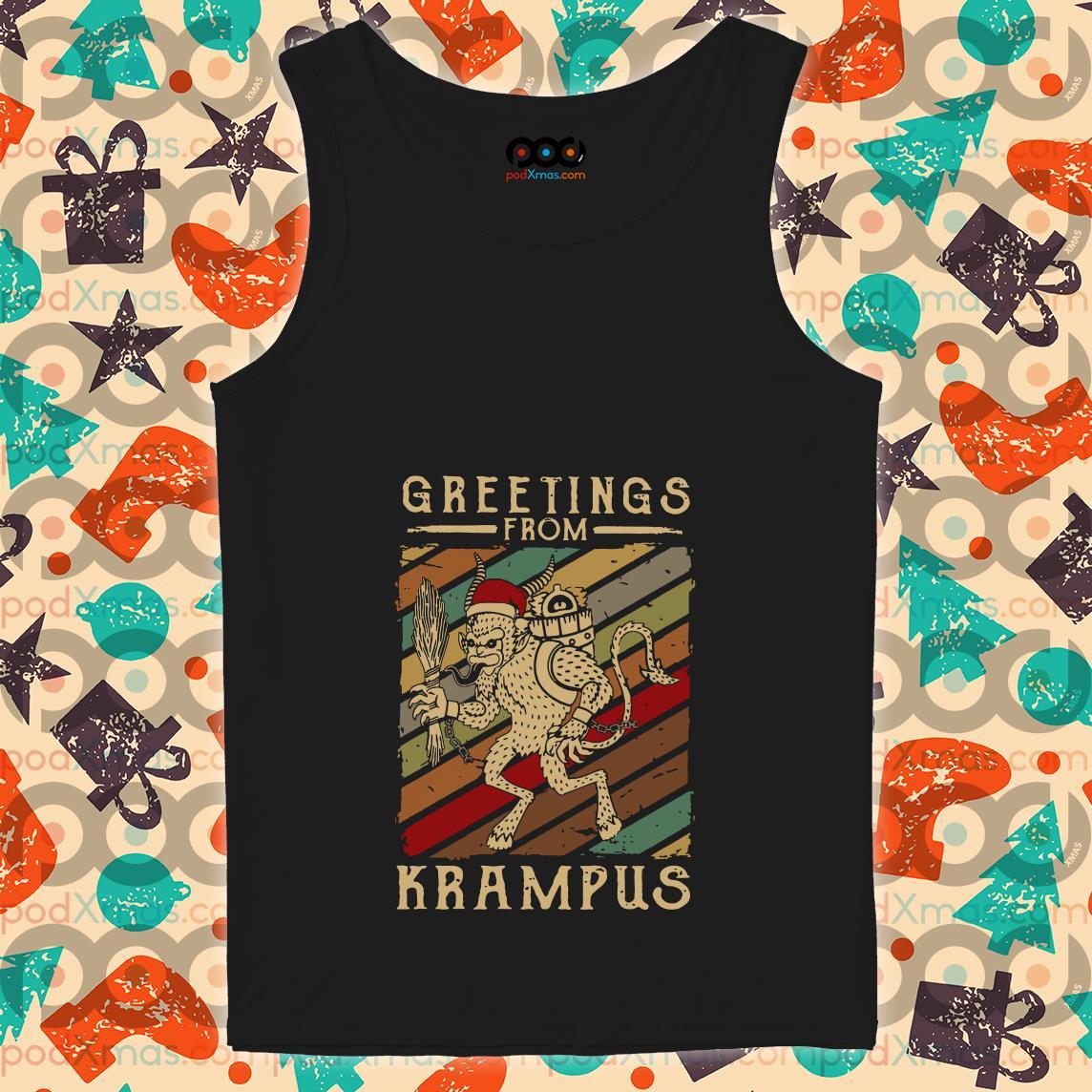 Greetings From Krampus Vintage tank top