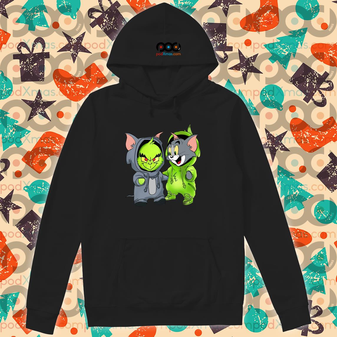 Grinch and Tom cat hoodie