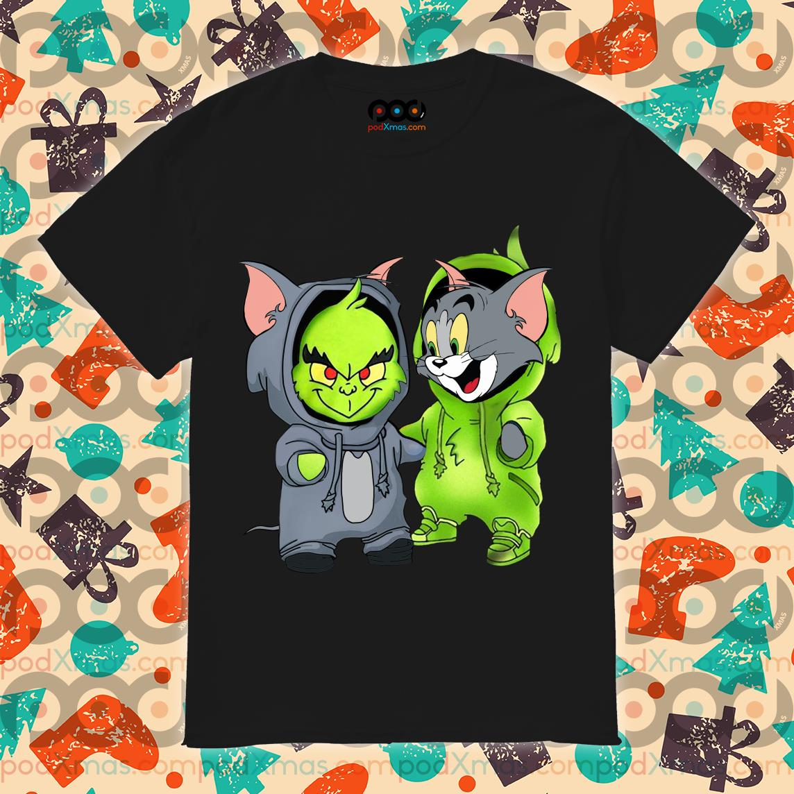 Grinch and Tom cat shirt