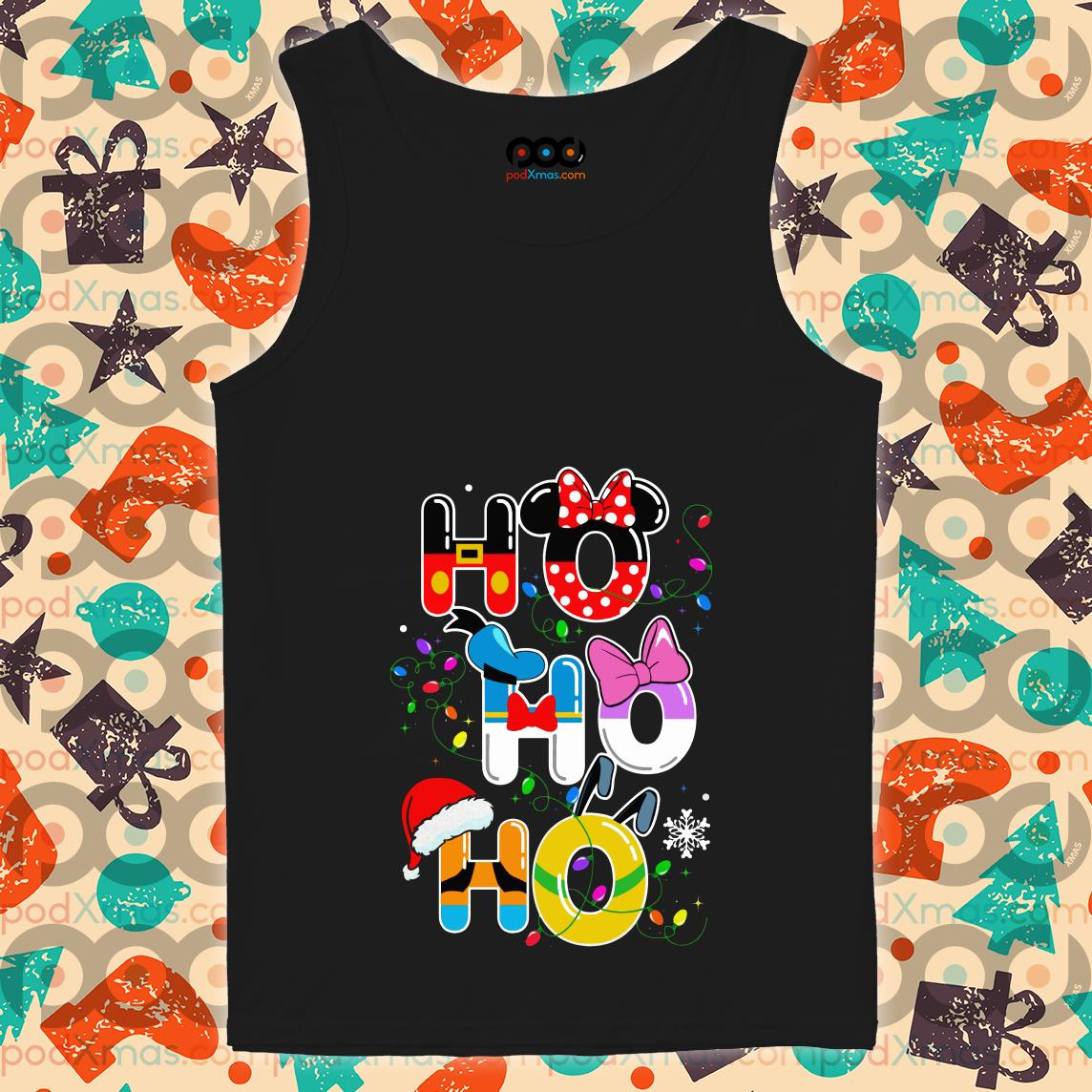 Ho Ho Ho Mickey Disney Christmas tank top