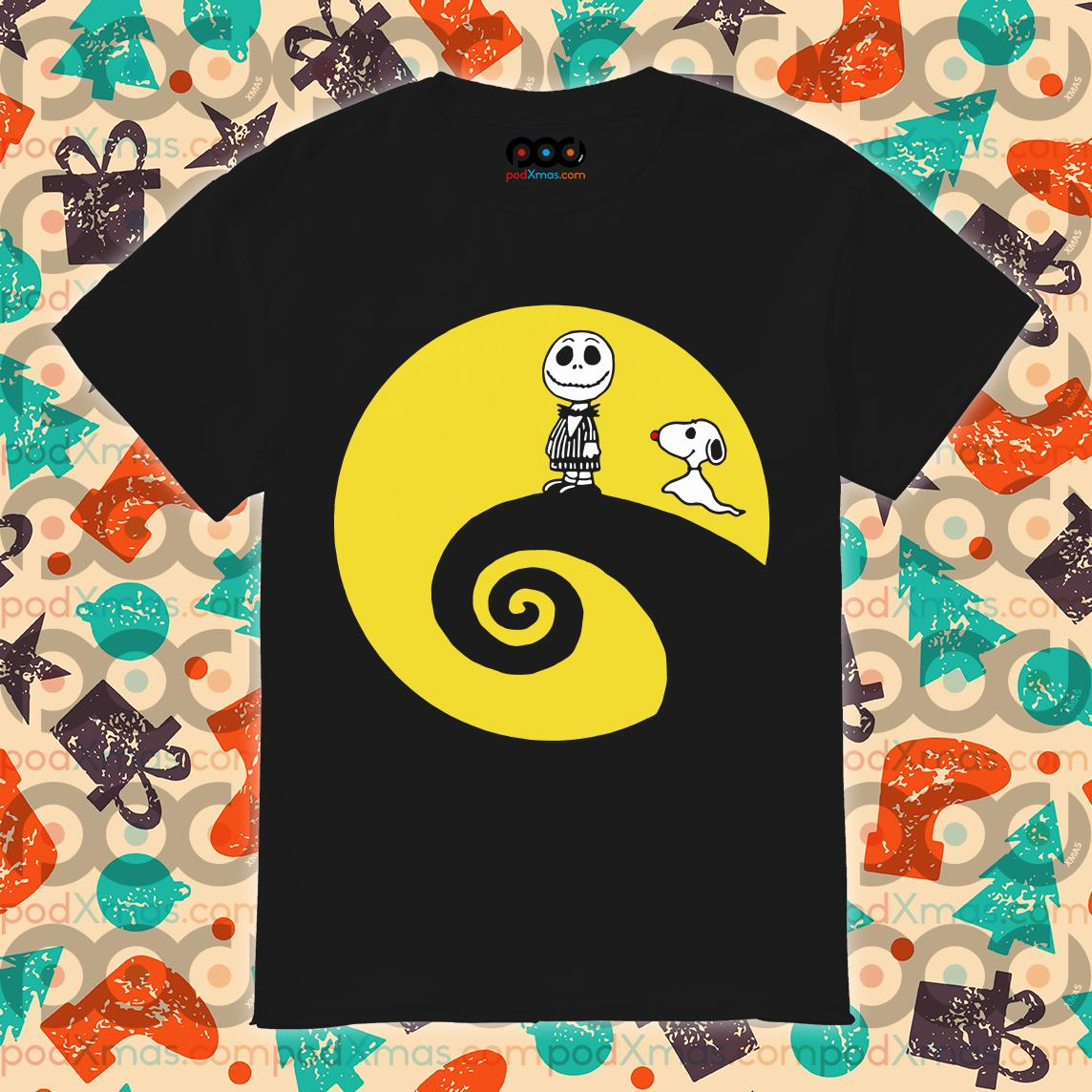 Jack Skellington Charlie Brown Snoopy The Nightmare Before Christmas Shirt