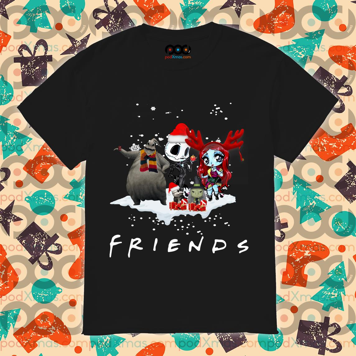 Jack Skellington Sally Christmas Friends shirt
