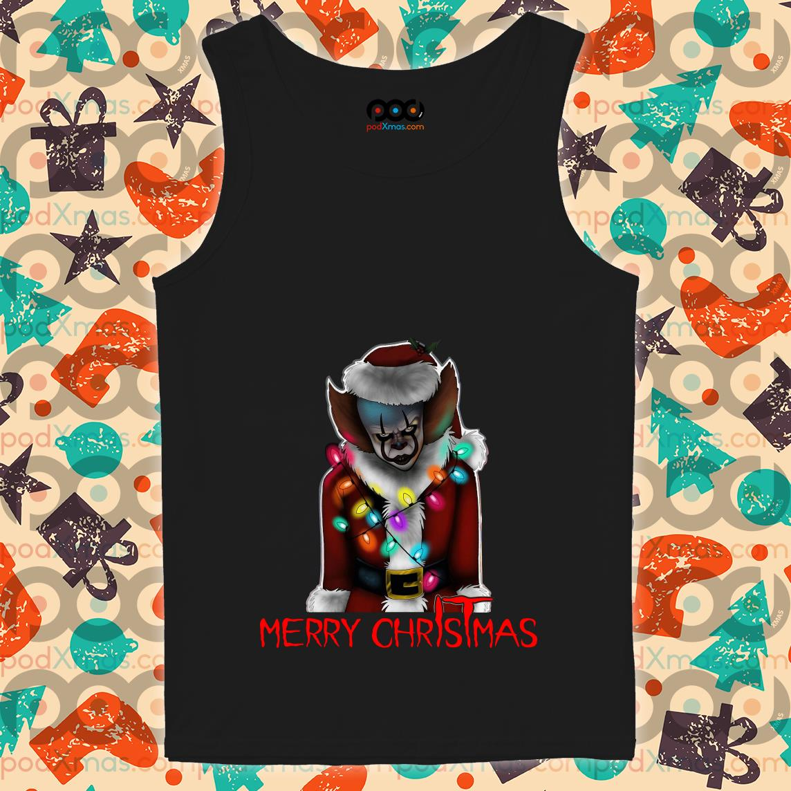 Pennywise Santa Merry ChrIsTmas IT tank top
