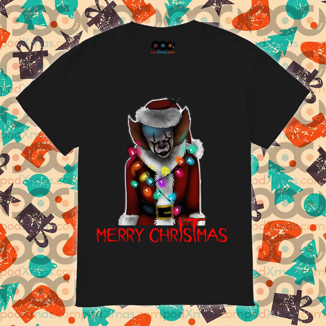 Pennywise Santa Merry ChrIsTmas IT shirt