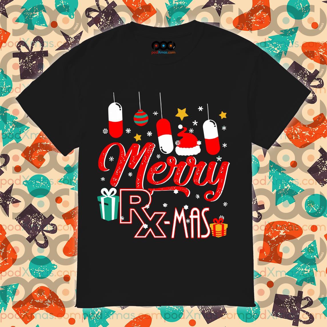 Pharmacist Merry RX mas Christmas shirt