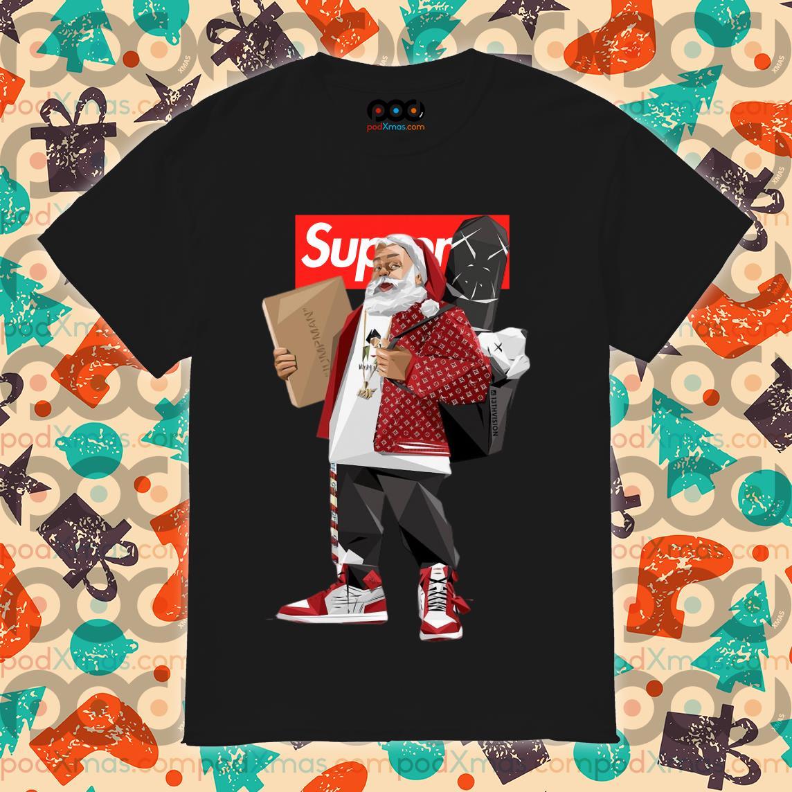 Santa Claus Supreme hiphop shirt