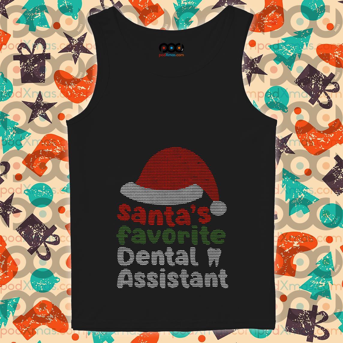 Santa's Favourite Dental Assistant tank top
