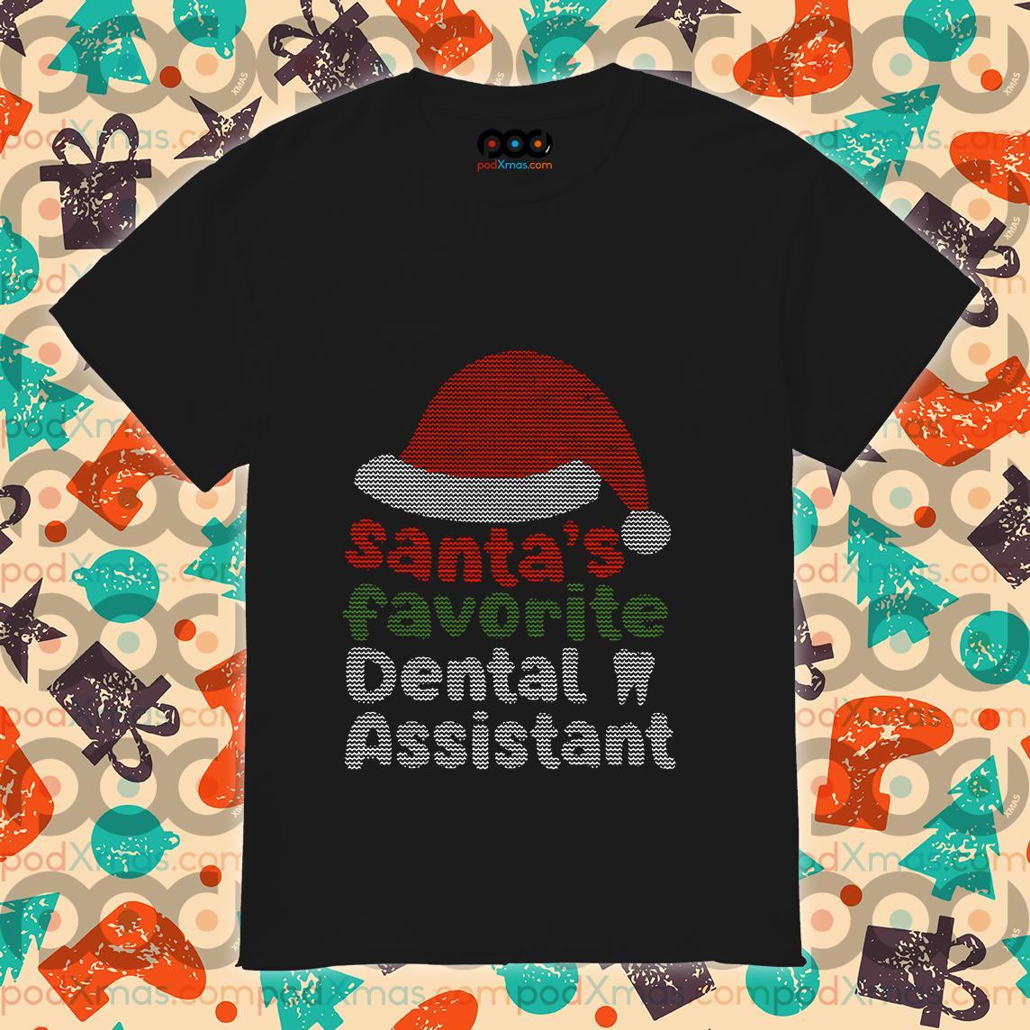 Santa's Favourite Dental Assistant shirt
