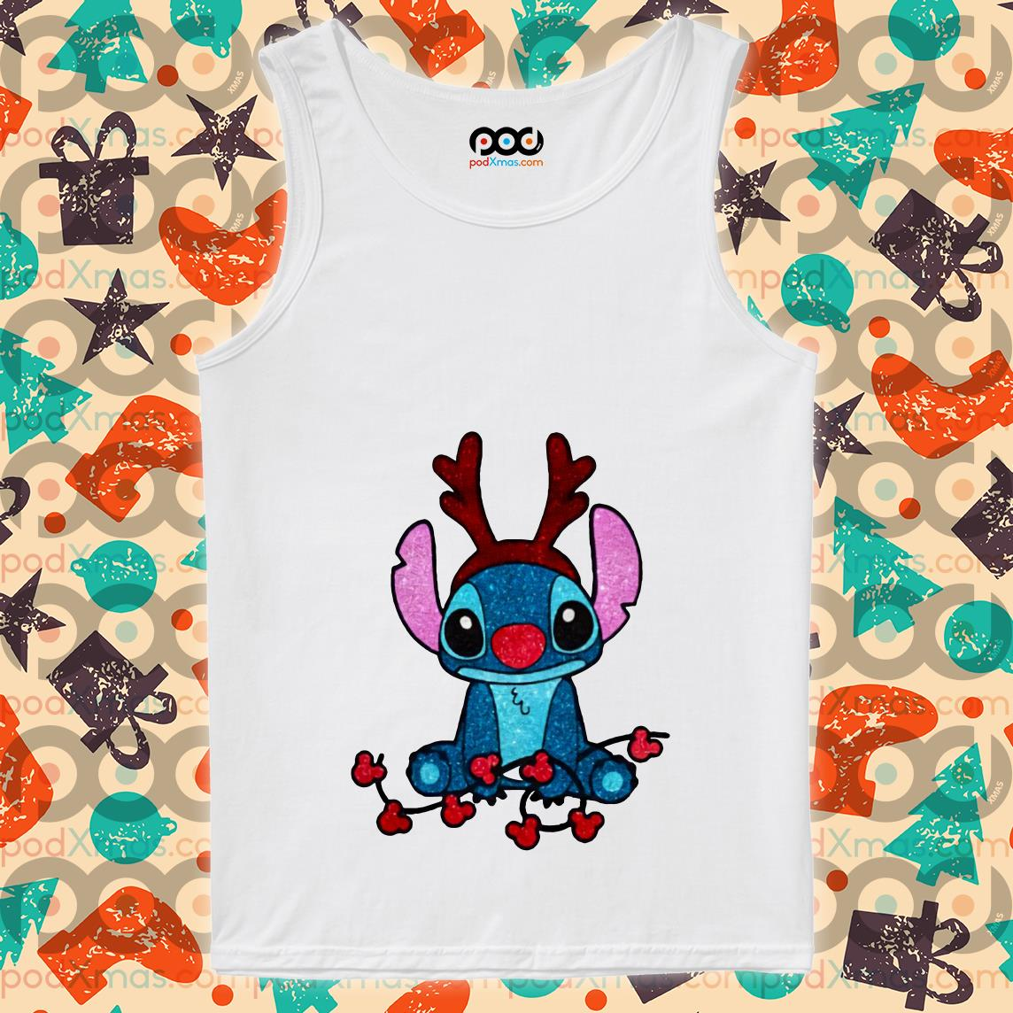 Stitch Reindeer Christmas tank top