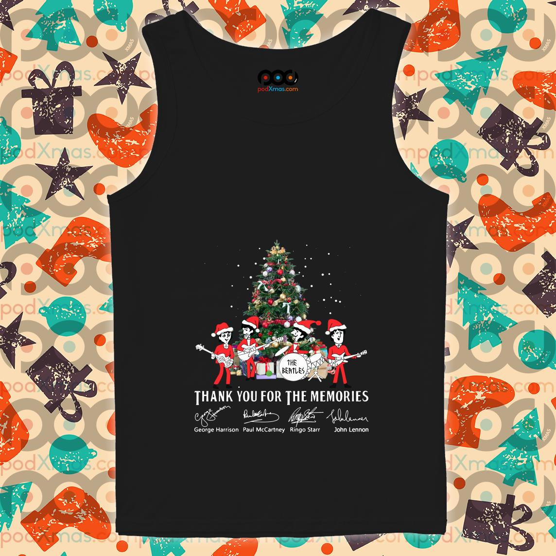 Thank you for the memories The Beatles Christmas tank top