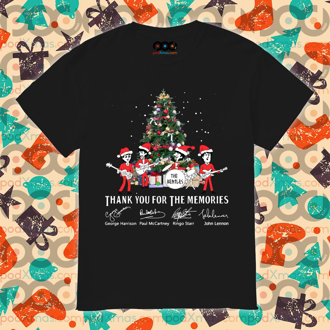 Thank you for the memories The Beatles Christmas shirt