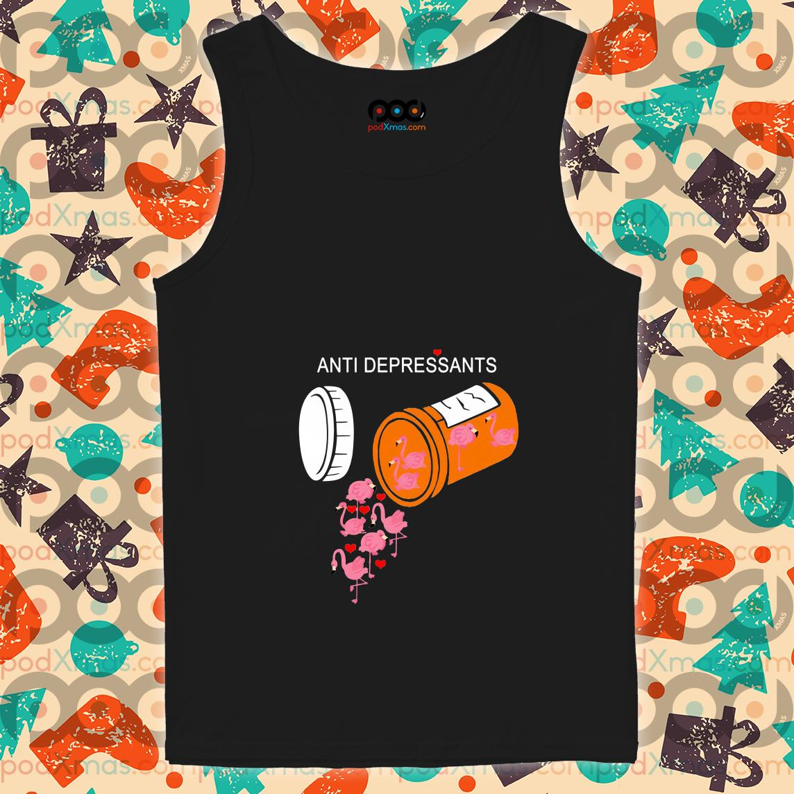 Antidepressants Flamingos tank top