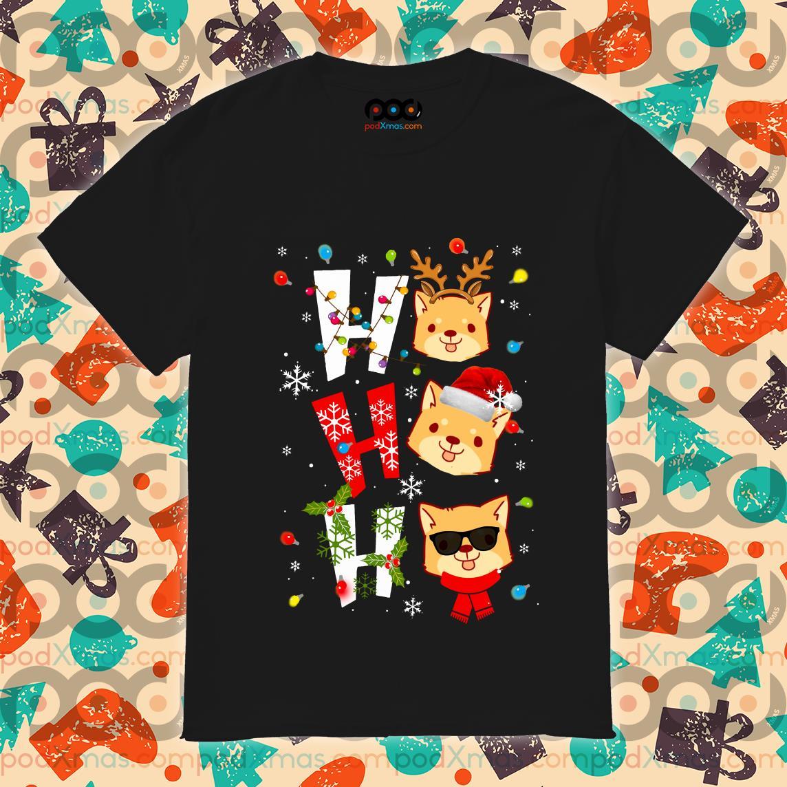 Corgi Ho Ho Ho Christmas shirt