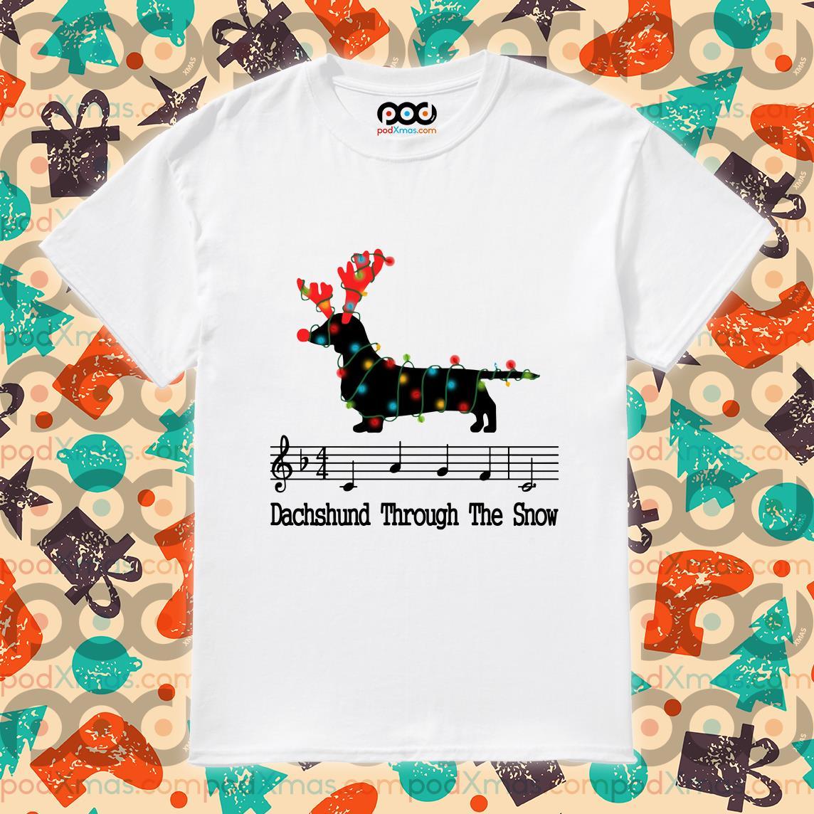 Dachshund Through the snow Tab Sheet Music shirt
