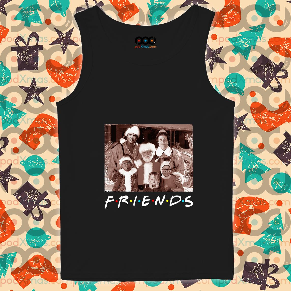 Friends Christmas holiday Grinch Elf Santa Clark Griswold Kevin tank top