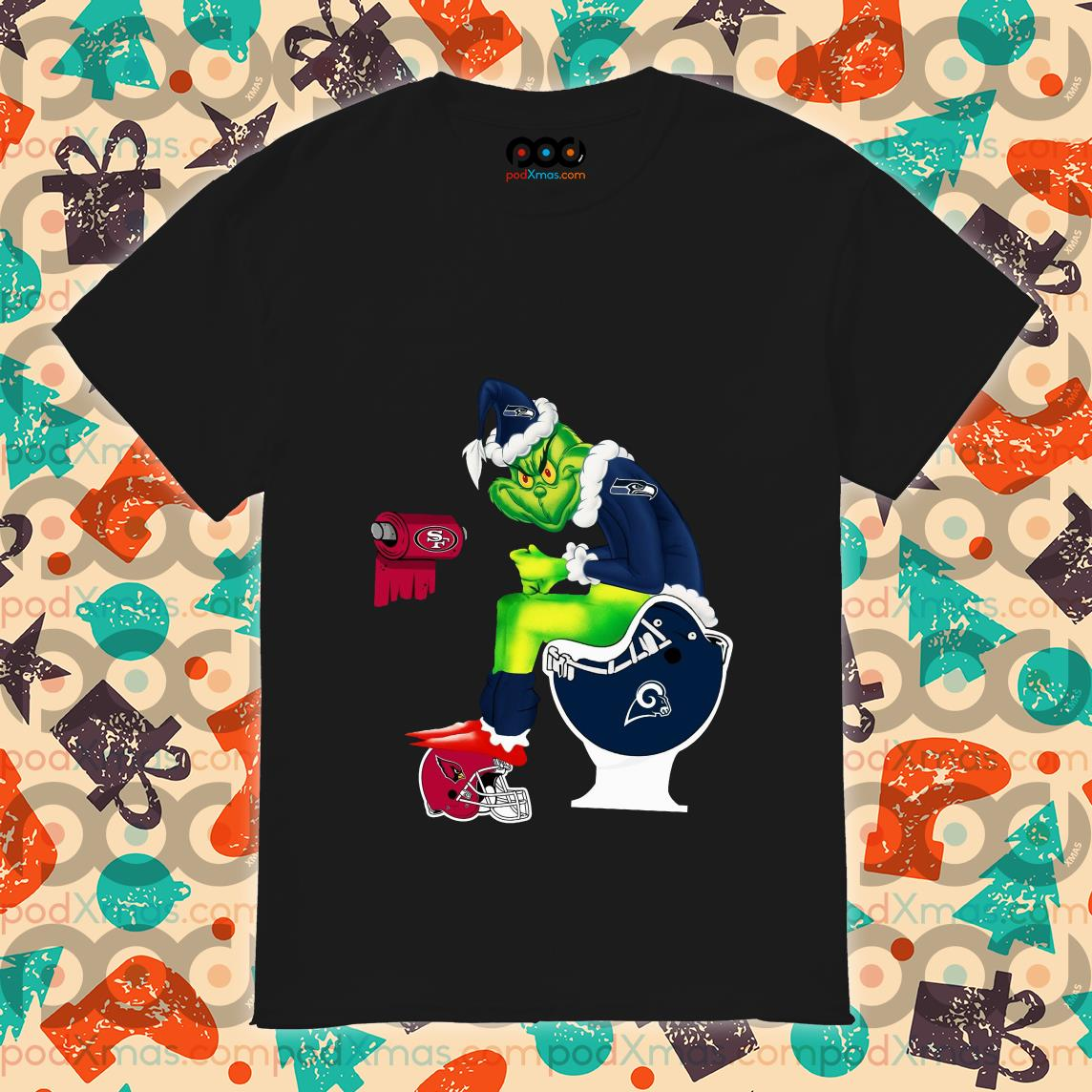 Grinch Seattle Seahawks Los Angeles Rams Arizona Cardinals 49ers shirt