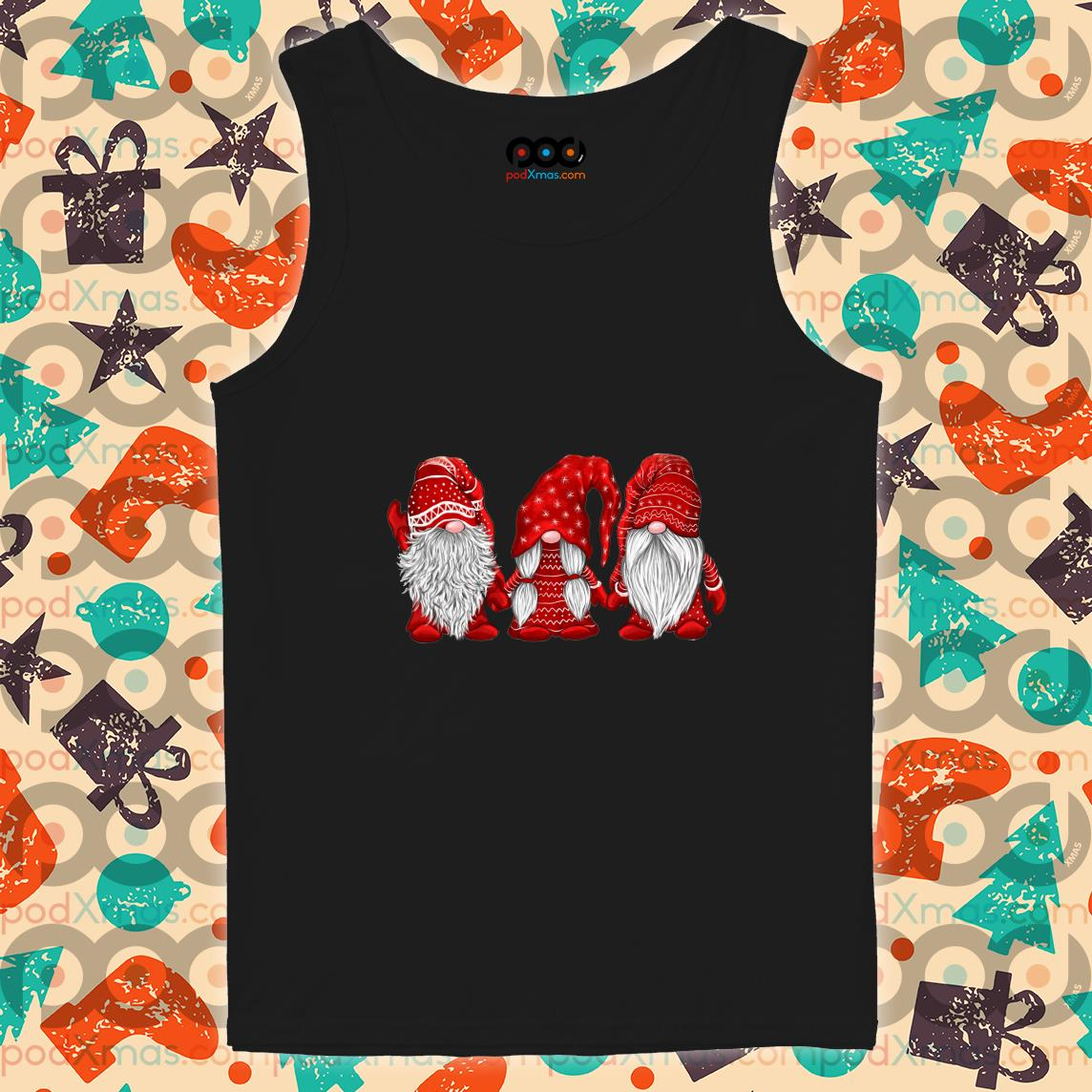 Hanging With Red Gnomies Christmas tank top