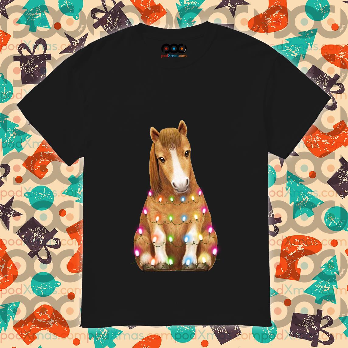 Horse Little Pony Light Christmas shirt