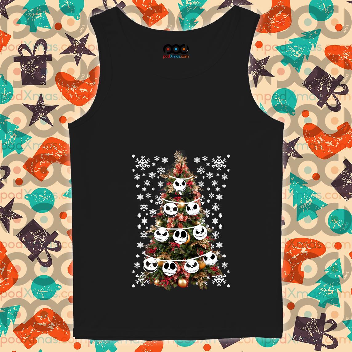 Jack Skellington Christmas tree tank top