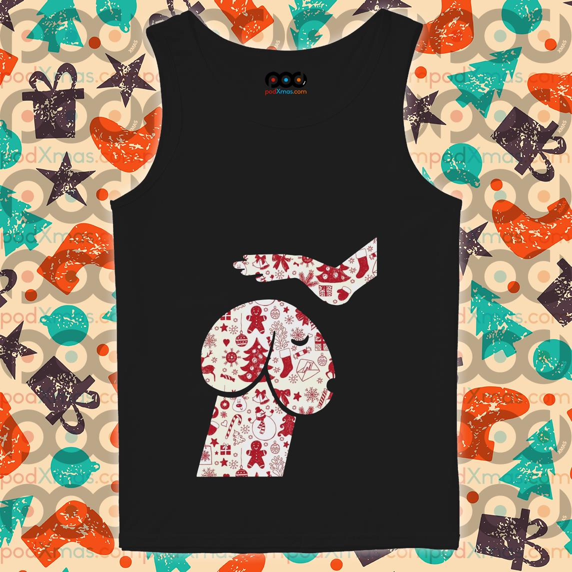 Love dog Head dog dick Christmas tank top