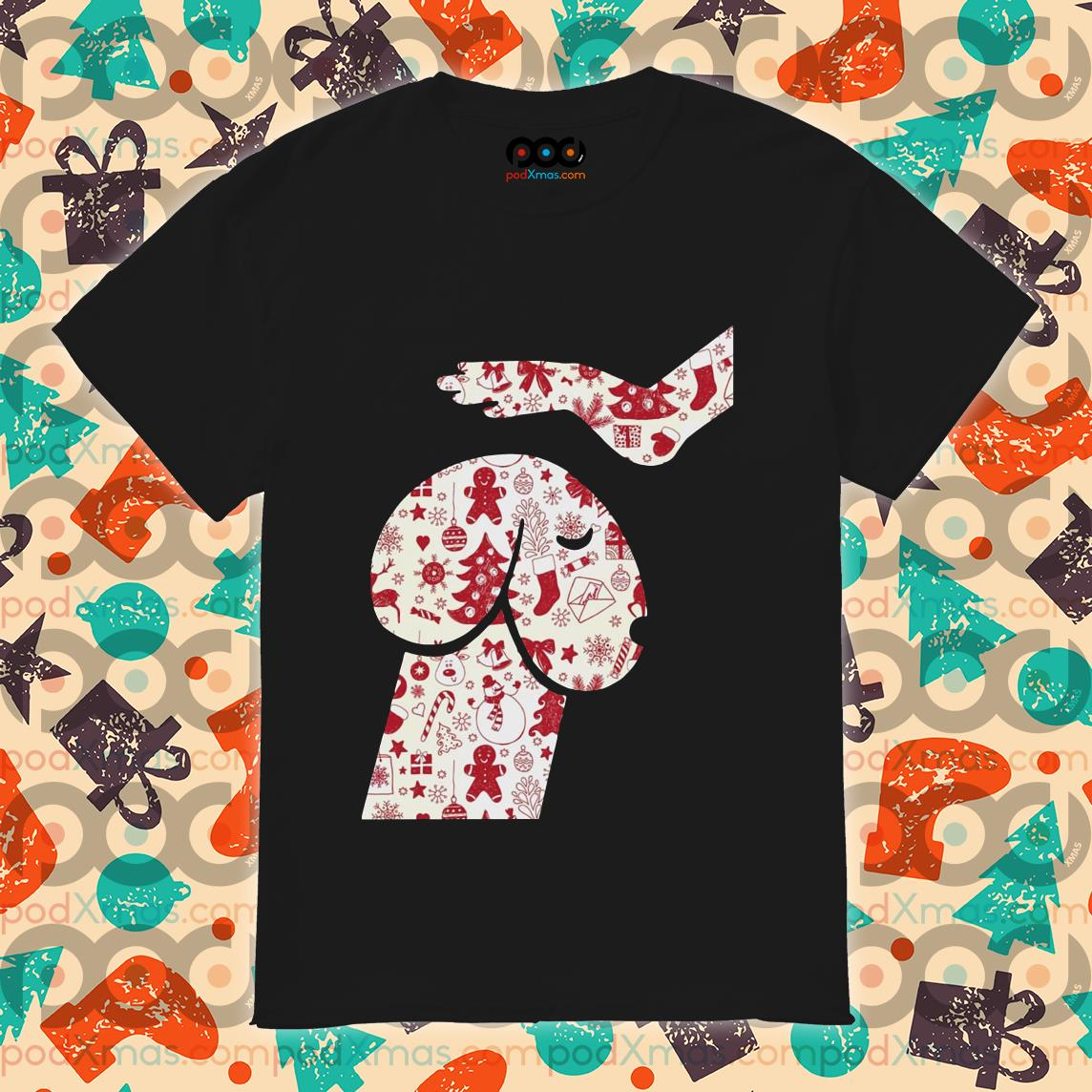 Love dog Head dog dick Christmas shirt