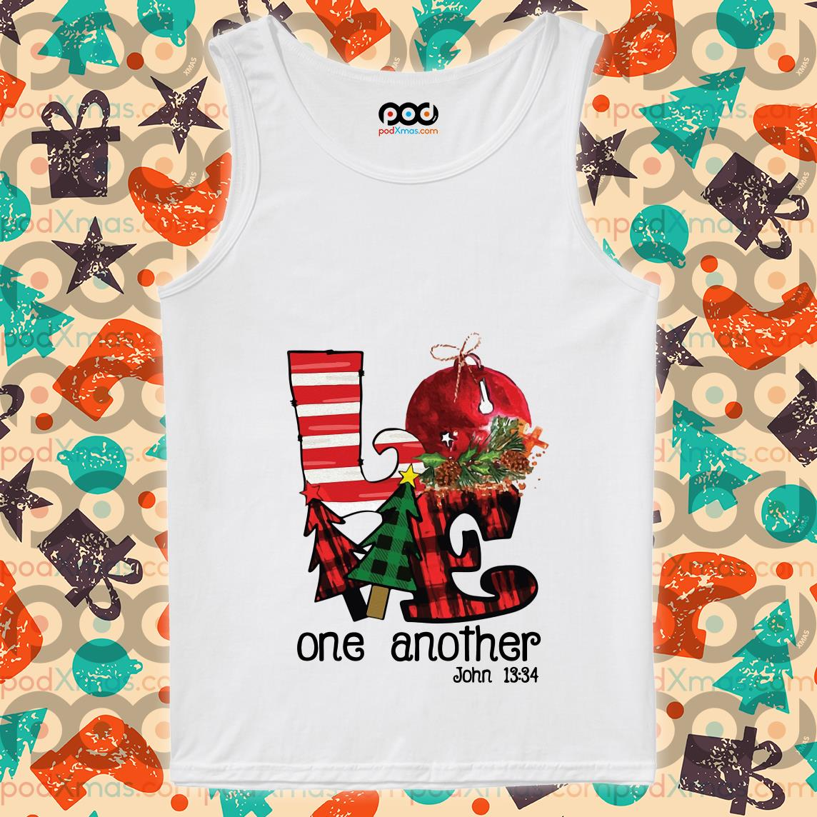 Love one another John 13'34 Christmas tank top