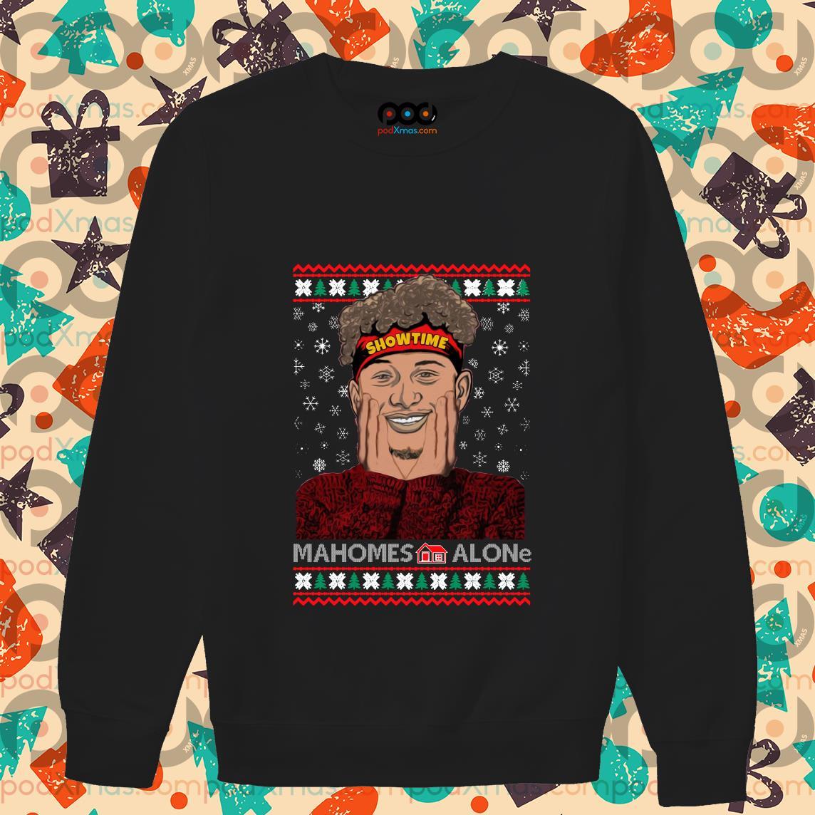 Mahomes Alone Showtime Ugly Xmas sweater