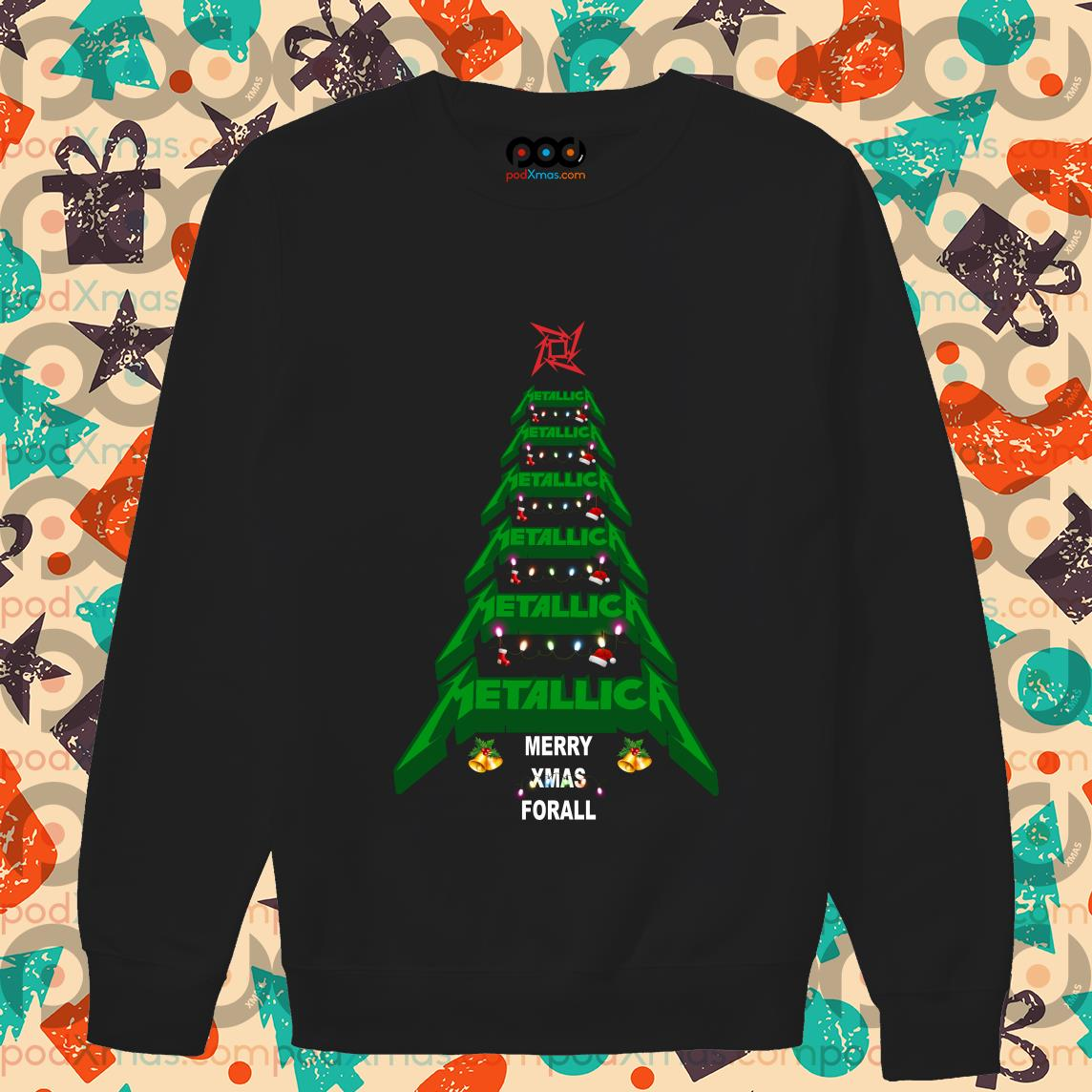 Metallica Merry Xmas For all Green Tree sweater