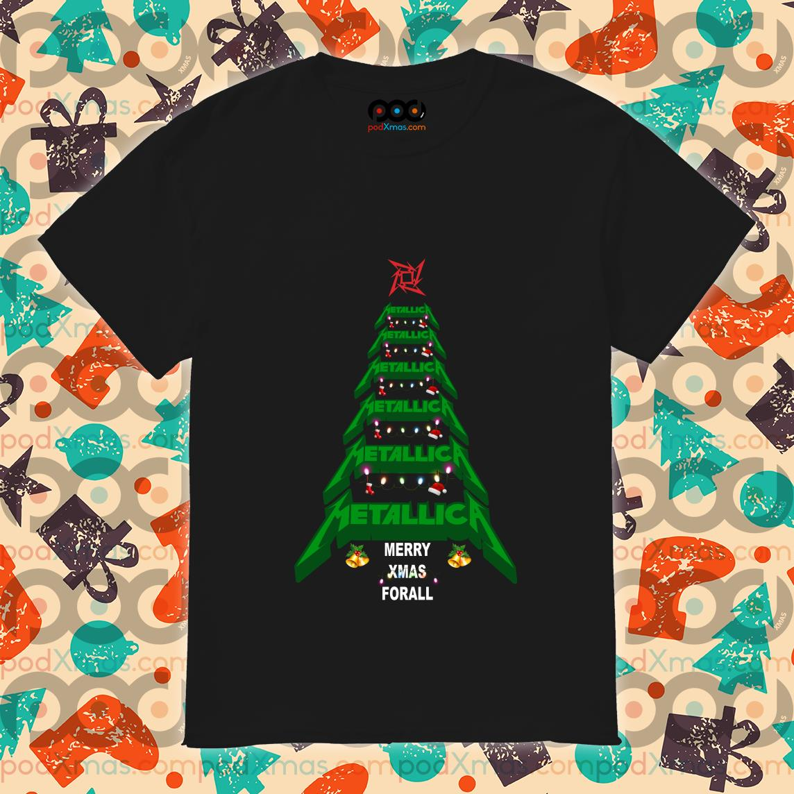Metallica Merry Xmas For all Green Tree shirt