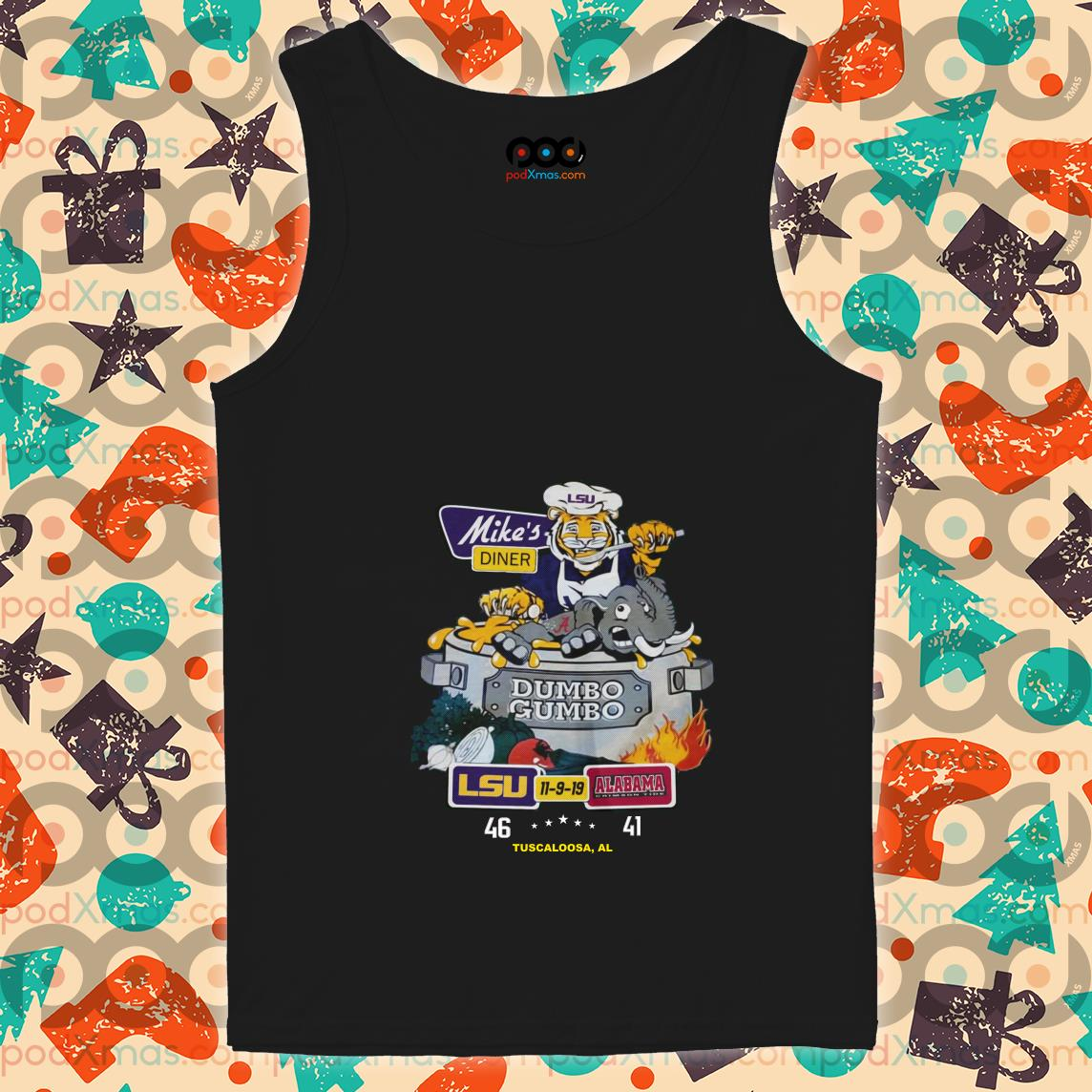 Mike's diner LSU and Alabama tank top