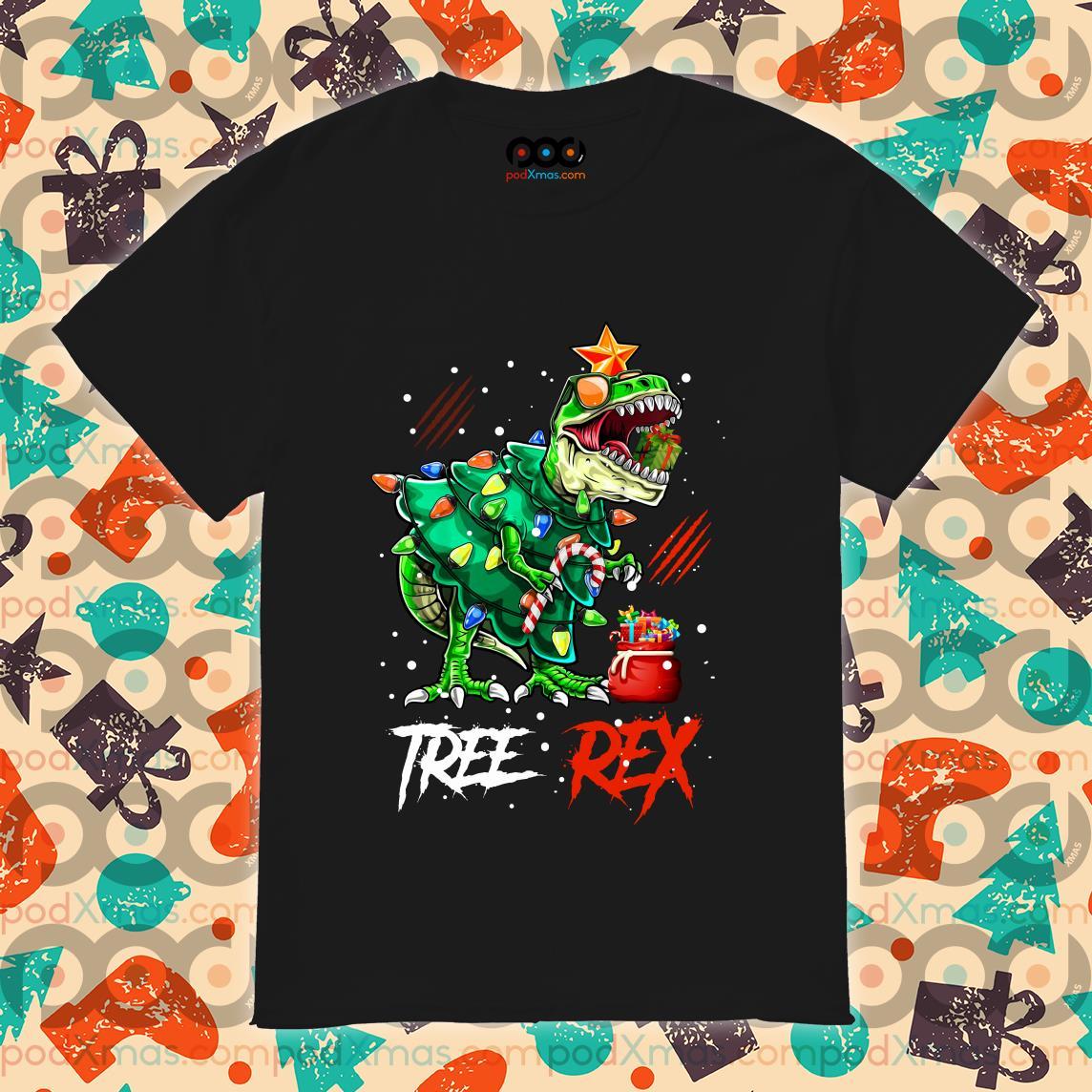 Tree Rex T-rex Christmas Dinosaur Shirt