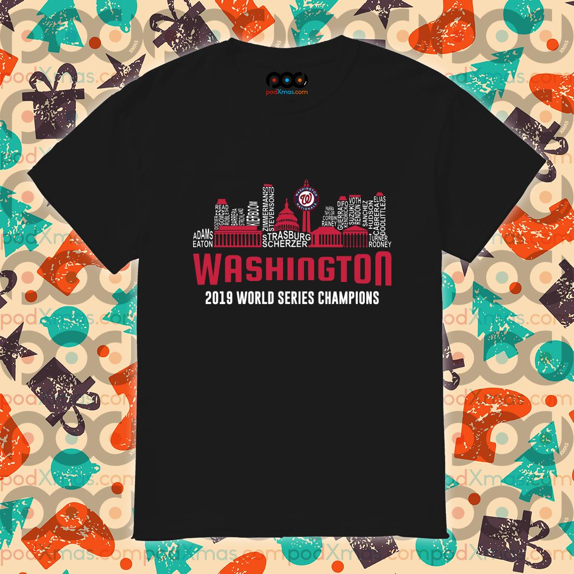 Washington 2019 world series Champions City shirt