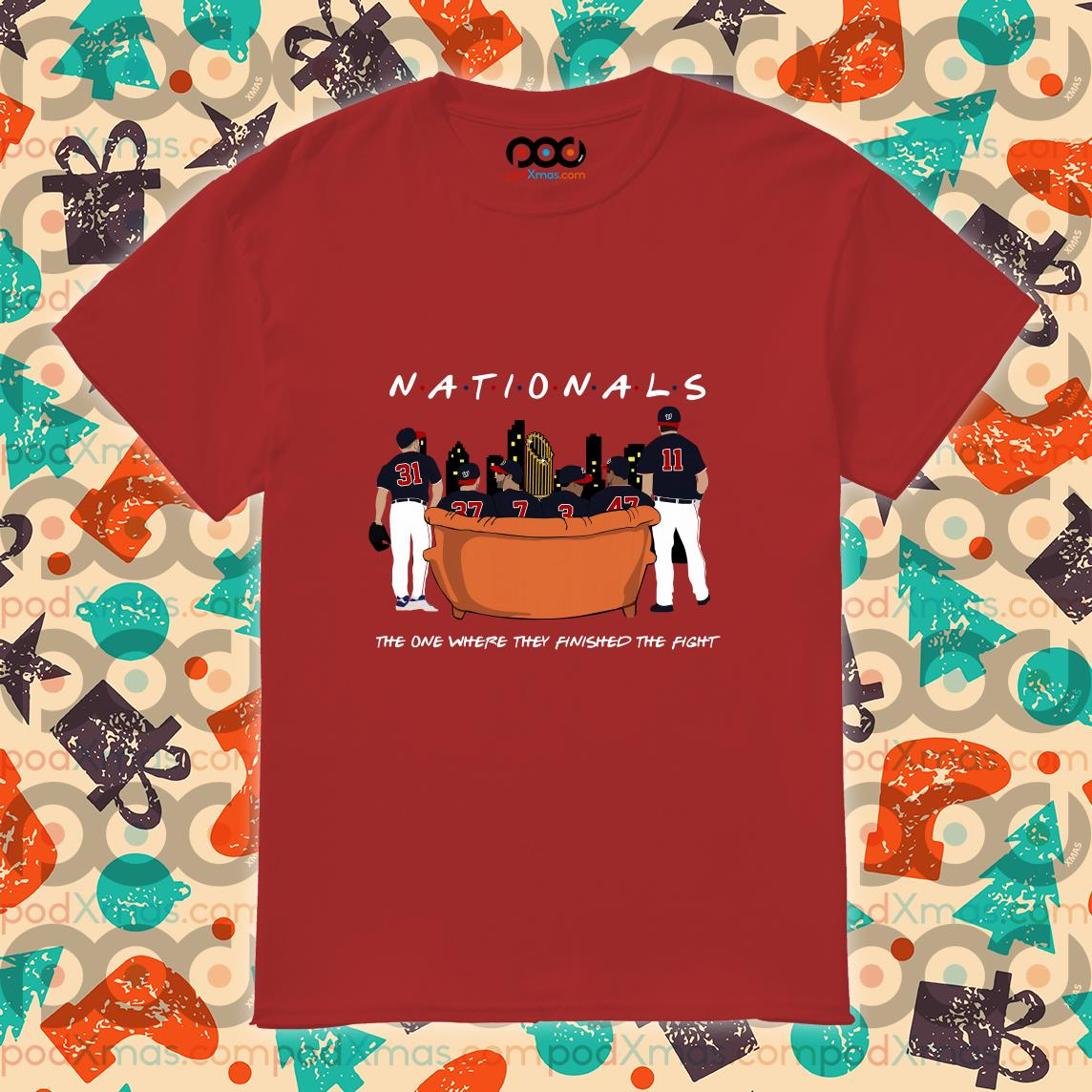Washington Nationals Champions Friends parody shirt