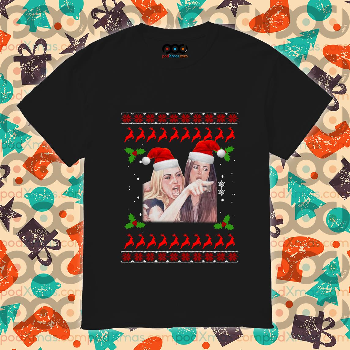 Woman Yelling at a Cat Ugly Christmas shirt