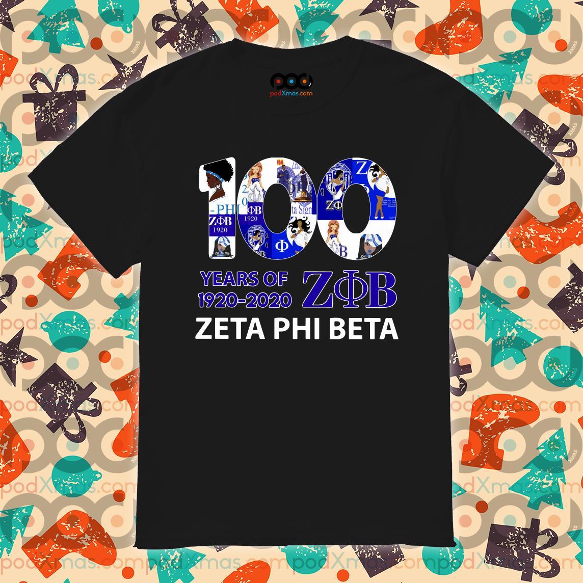 100 years of ZOB Zeta Phi Beta 1920 2020 shirt