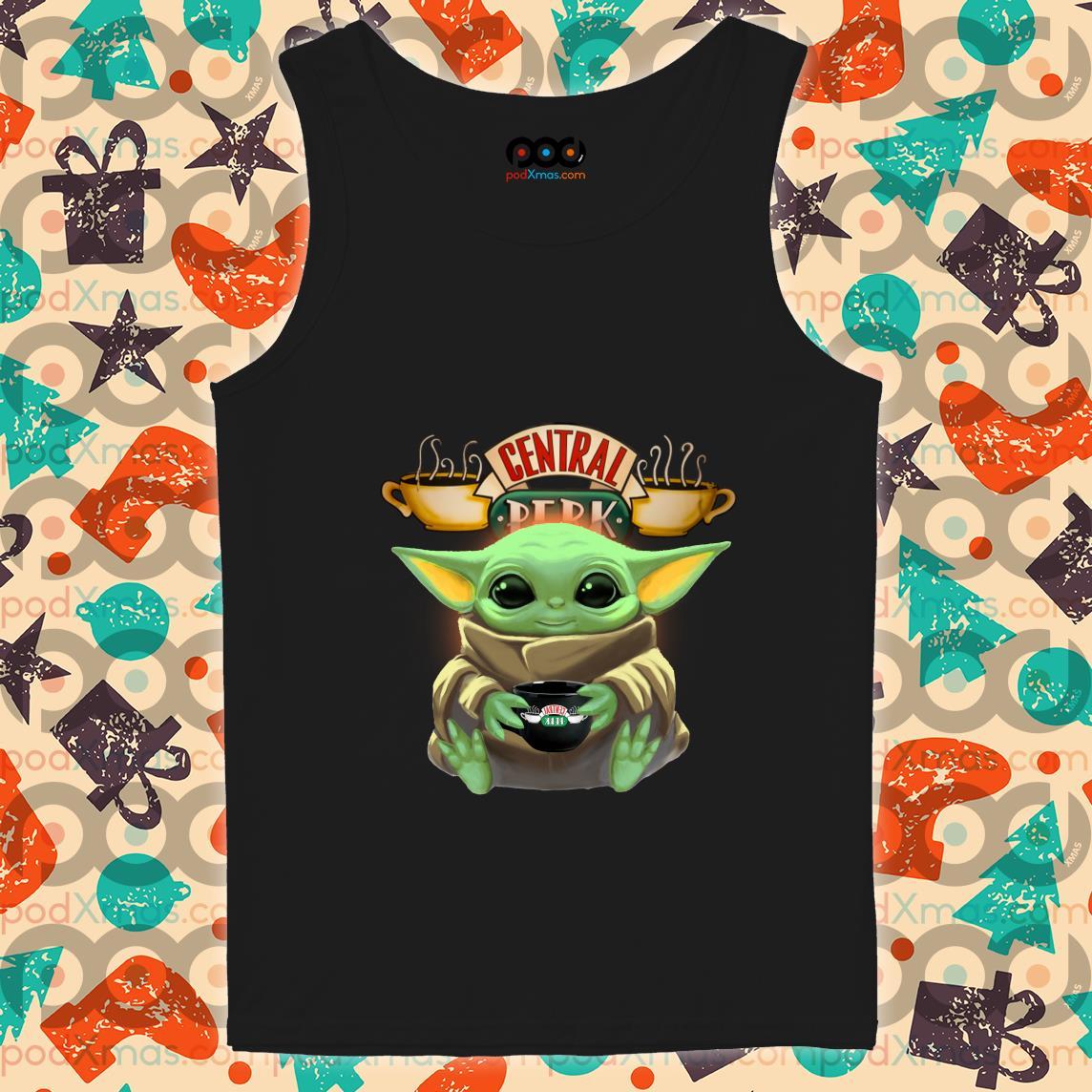Baby Yoda hug Central Perk tank top