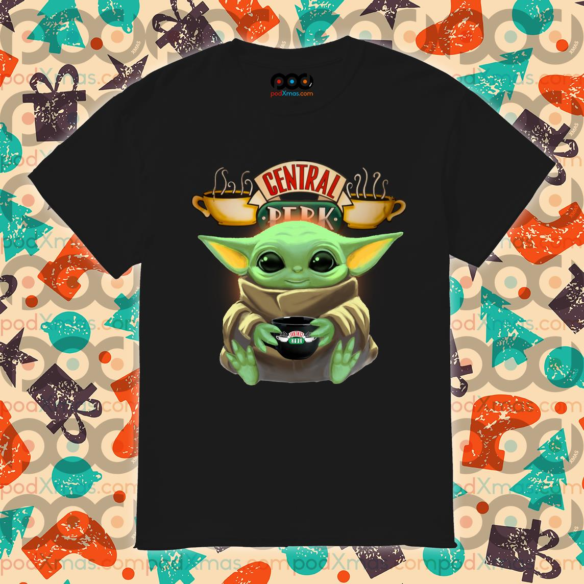 Baby Yoda hug Central Perk shirt