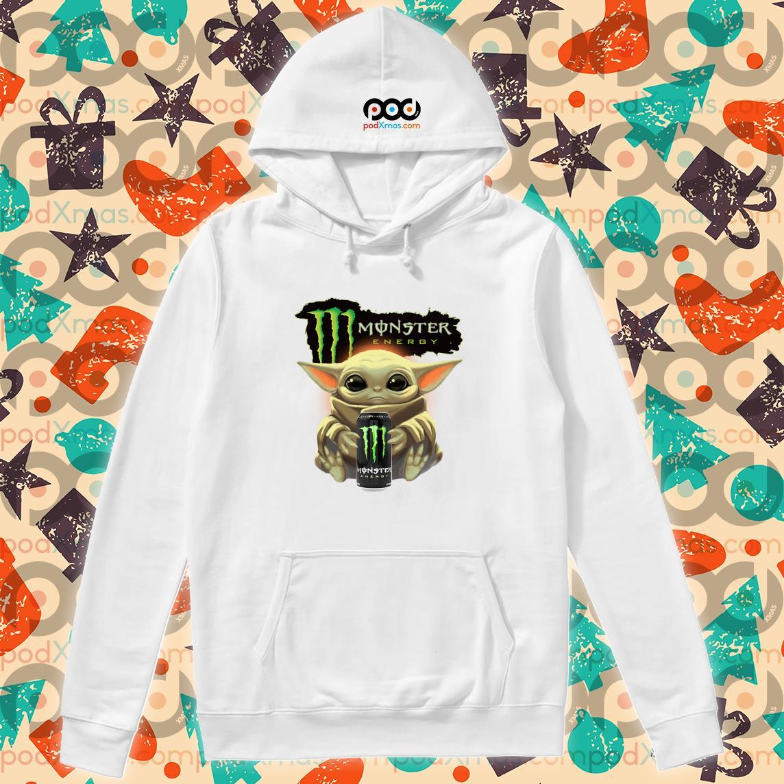 Baby Yoda hug Monster Energy hoodie