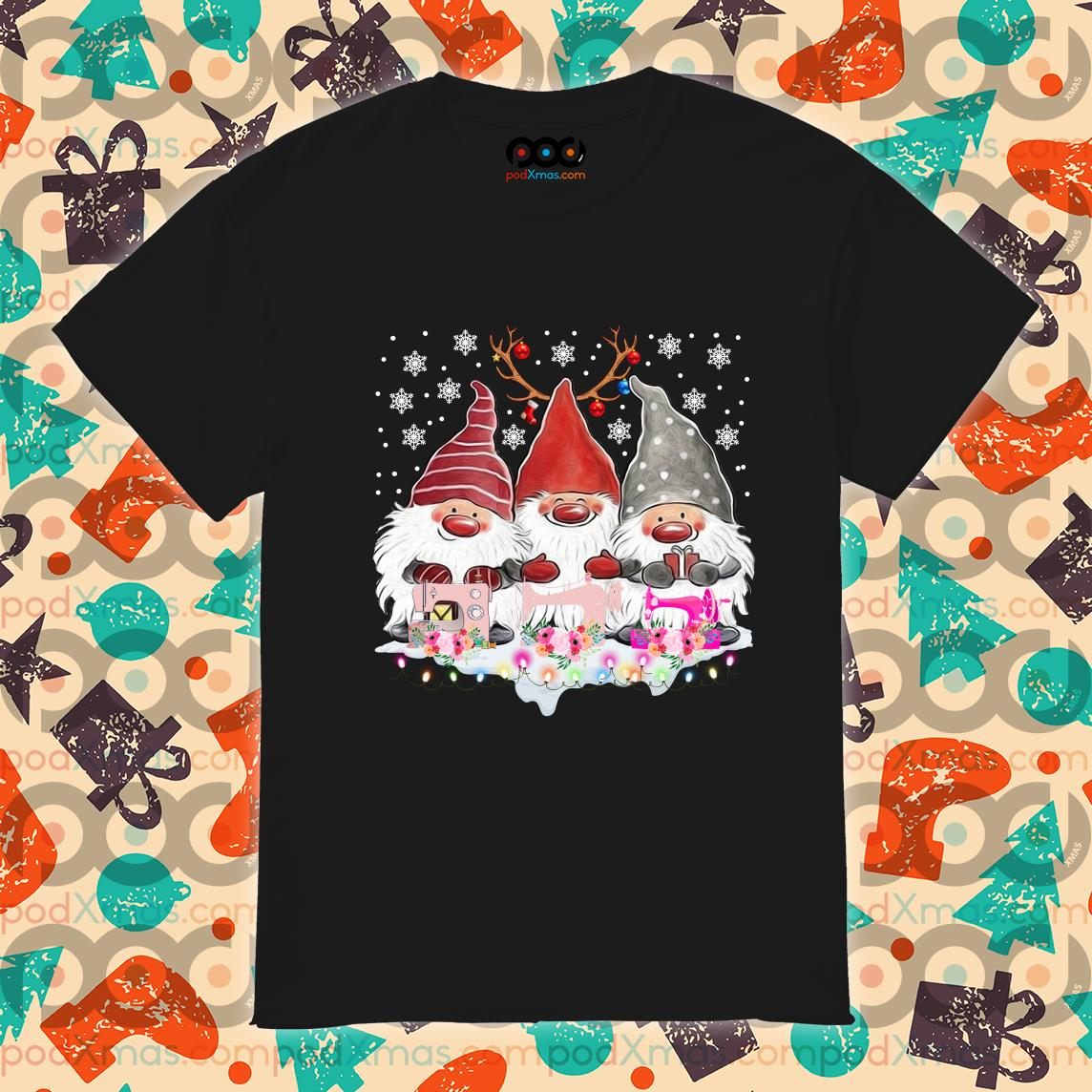 Gnomies Sewing Quilting Christmas shirt