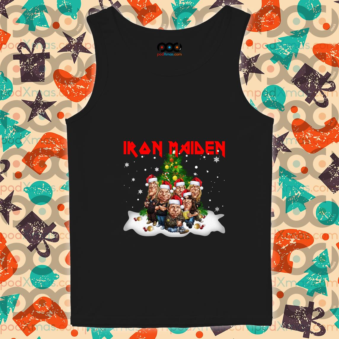 Iron Maiden Merry Christmas Funny tank top