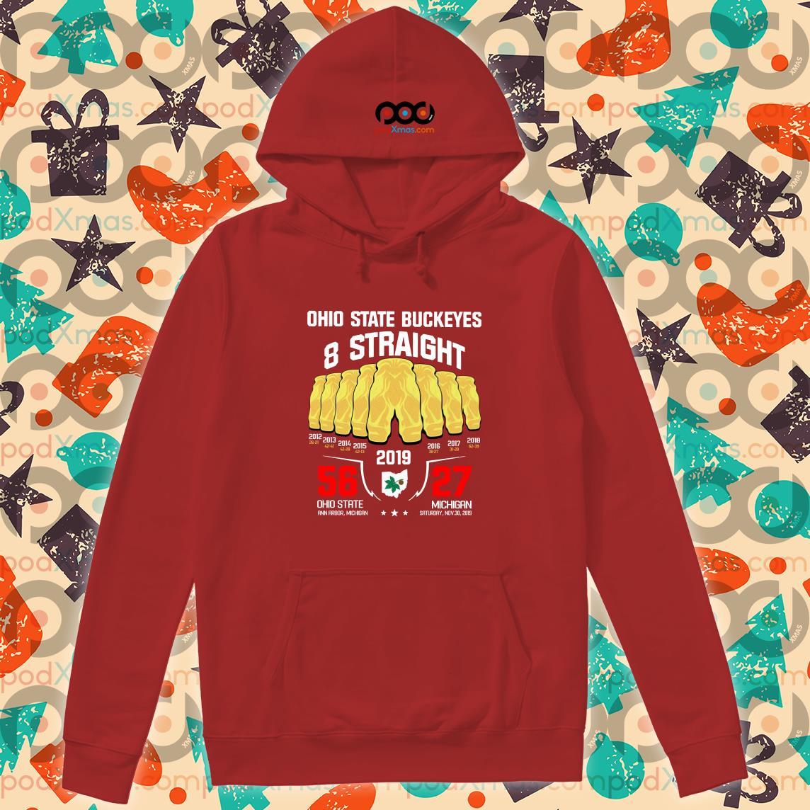 Ohio State Buckeyes 8 straight 2019 hoodie