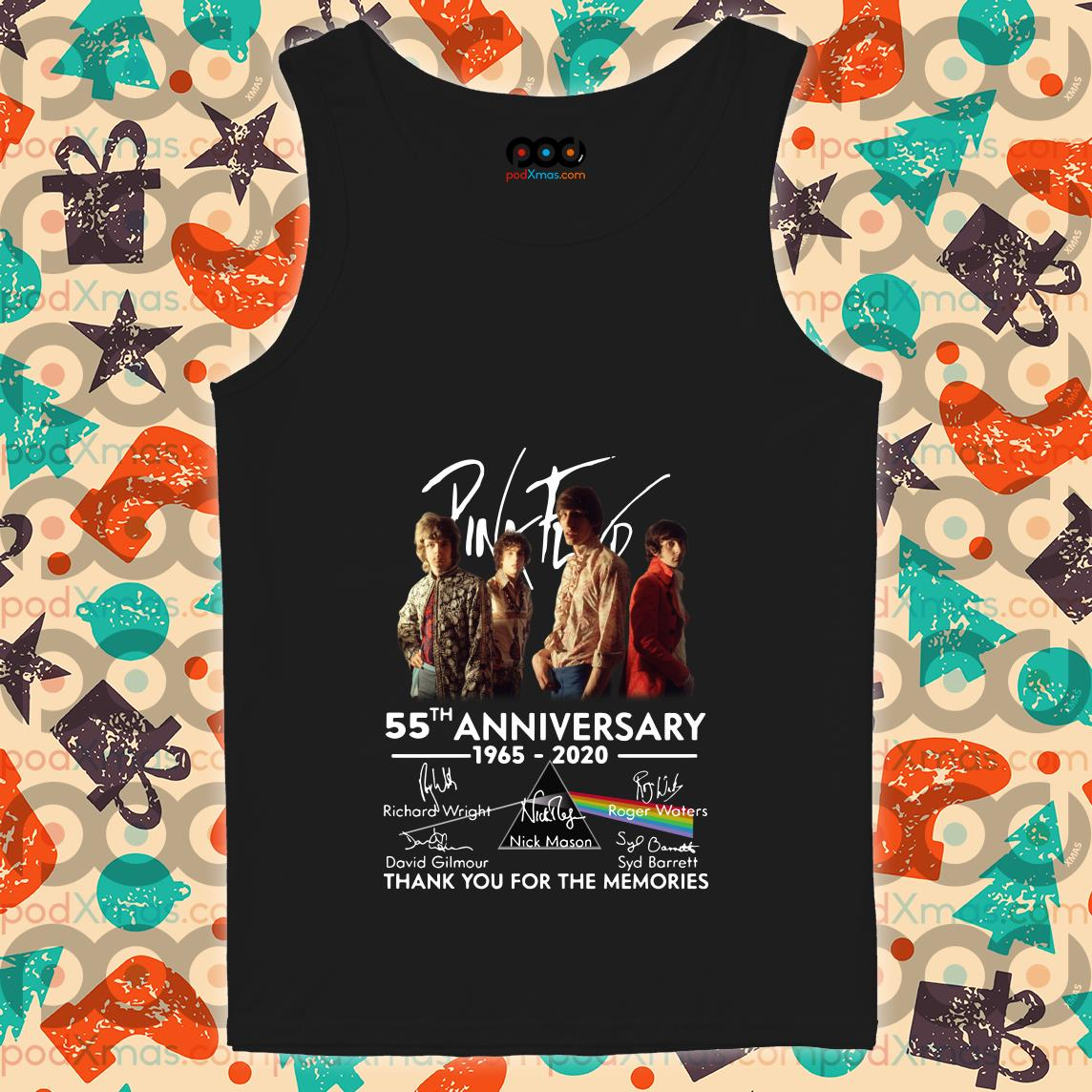 Pink Floyd 55th anniversary 1965 2020 thank you tank top