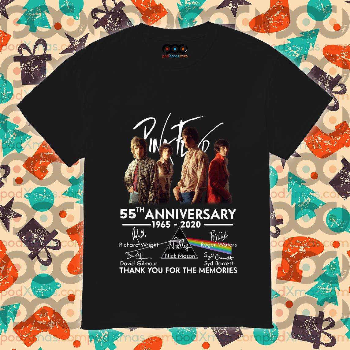 Pink Floyd 55th anniversary 1965 2020 thank you shirt